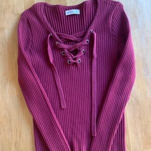 Hollister long sleeve tie up!